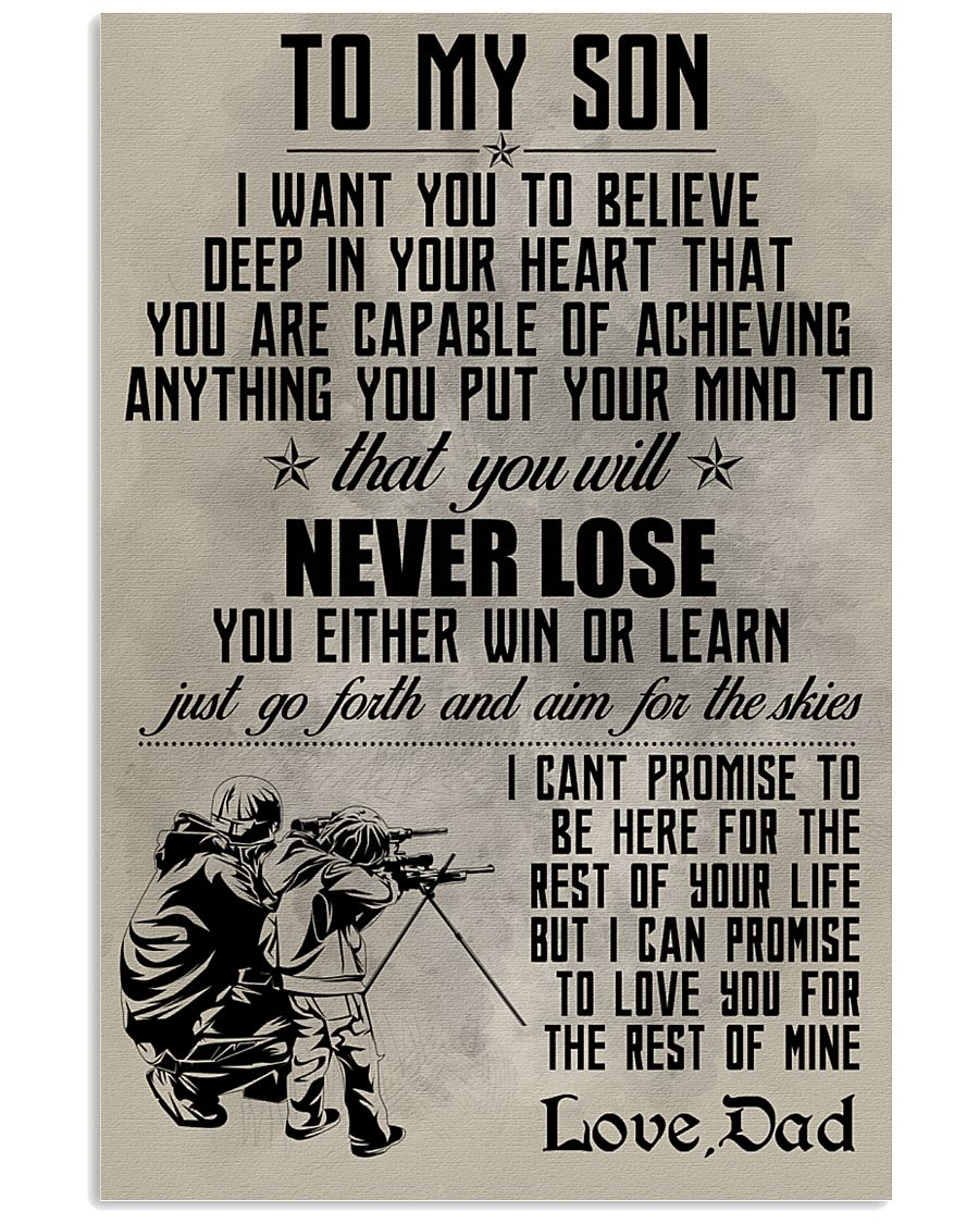 HUNTING POSTER - TO MY SON 11x17 Poster