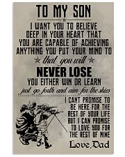 HUNTING POSTER - TO MY SON 11x17 Poster front