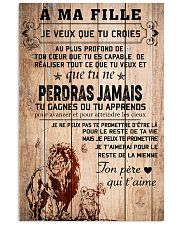 lion poster-to daughter-never lose french vs1 11x17 Poster front