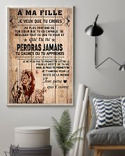 lion poster-to daughter-never lose french vs1 11x17 Poster lifestyle-poster-1