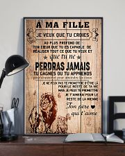 lion poster-to daughter-never lose french vs1 11x17 Poster lifestyle-poster-2