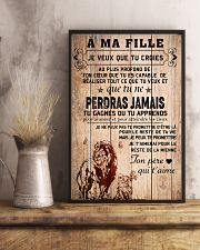 lion poster-to daughter-never lose french vs1 11x17 Poster lifestyle-poster-3