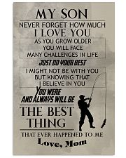 FISHING POSTER TO SON N029 11x17 Poster front