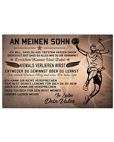 basketball poster - to son-never lose german vs2