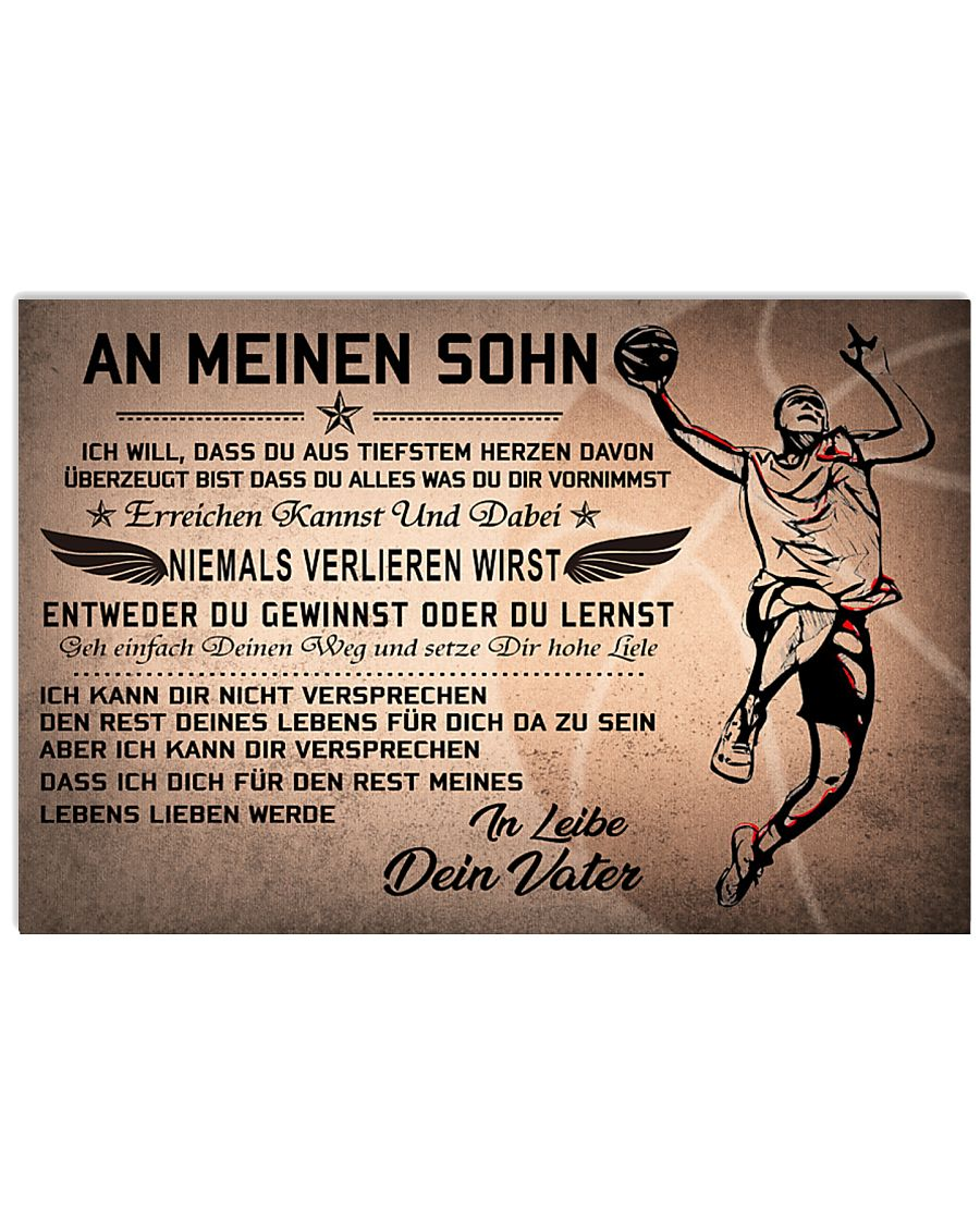 basketball poster - to son-never lose german vs2 17x11 Poster