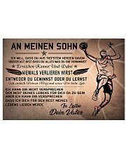 basketball poster - to son-never lose german vs2 17x11 Poster front