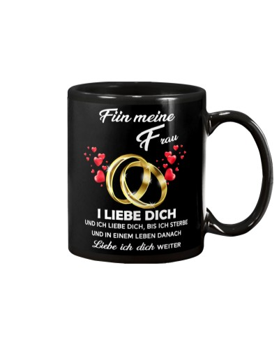 family mug - I love you - german vs