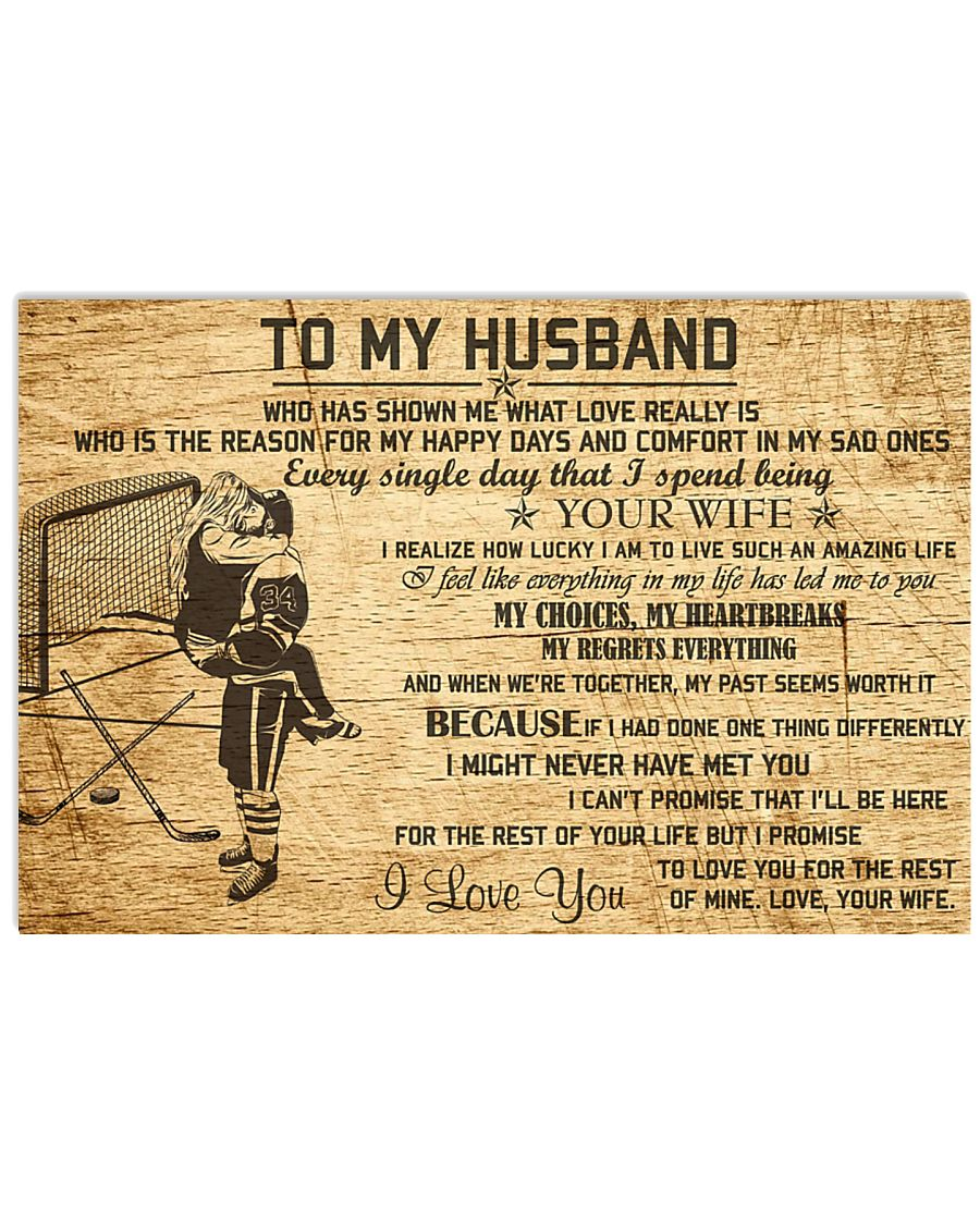 HOCKEY - TO MY HUSBAND 17x11 Poster
