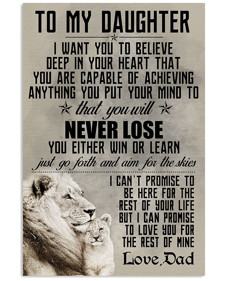 LION - TO MY DAUGHTER 16x24 Poster