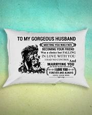 LION - TO MY GORGEOUS HUSBAND Rectangular Pillowcase aos-pillow-rectangle-front-lifestyle-3