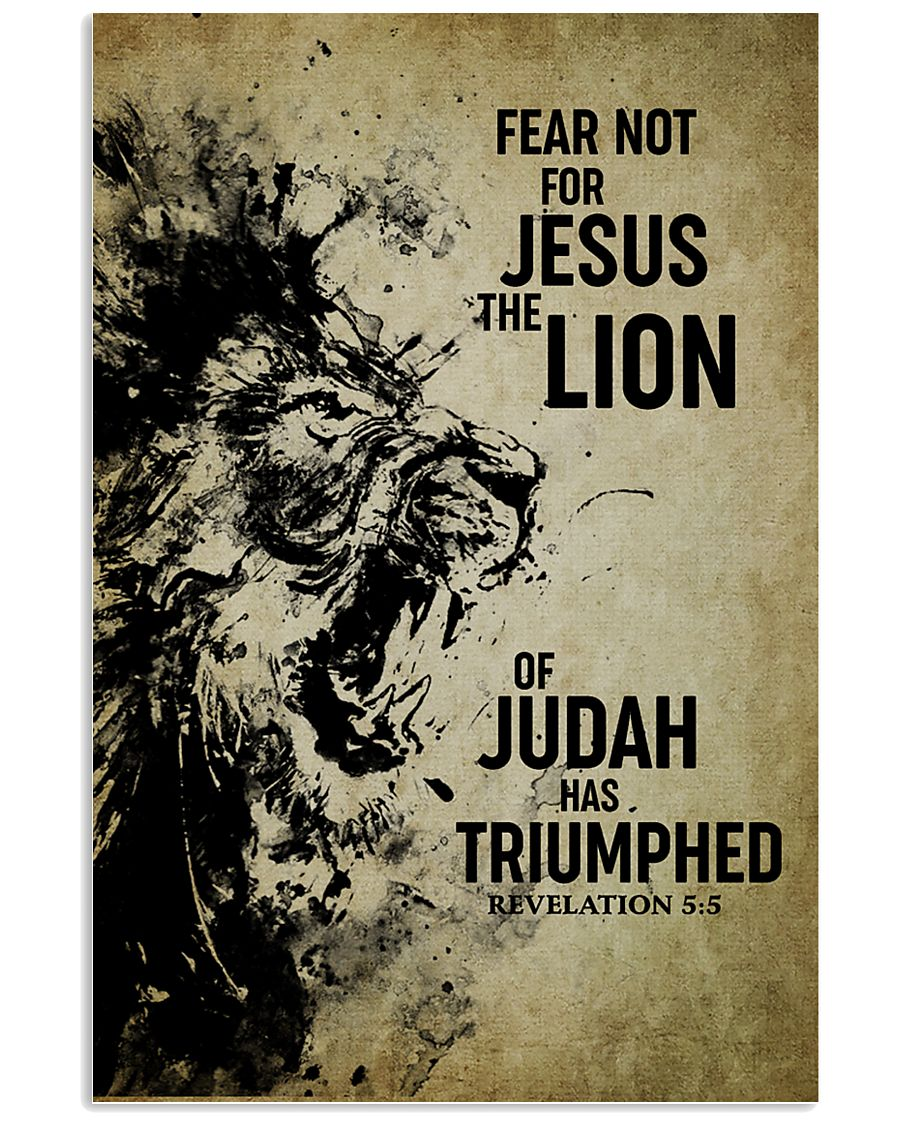 LION - FEAR NOT FOR JESUS 11x17 Poster