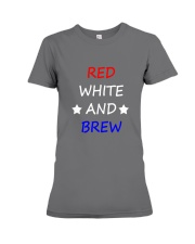 RED WHITE AND BREW T-Shirt Premium Fit Ladies Tee thumbnail