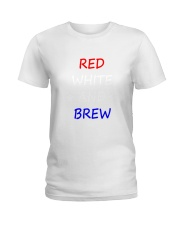 RED WHITE AND BREW T-Shirt Ladies T-Shirt thumbnail