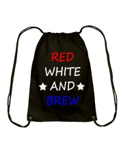 RED WHITE AND BREW T-Shirt Drawstring Bag thumbnail