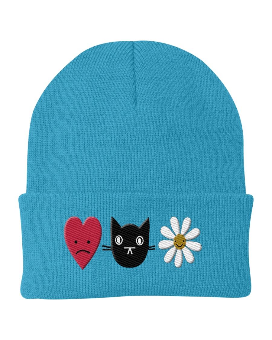 Heart- cat- flower Knit Beanie