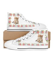 CAT FLOWER HIGH TOP Women's High Top White Shoes outside-right-inside-right