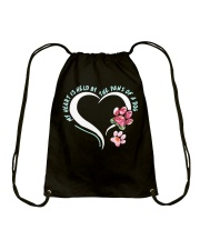 My Heart Is Held By The Paws Of A Dog Drawstring Bag thumbnail