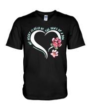 My Heart Is Held By The Paws Of A Dog V-Neck T-Shirt thumbnail