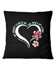 My Heart Is Held By The Paws Of A Dog Square Pillowcase back
