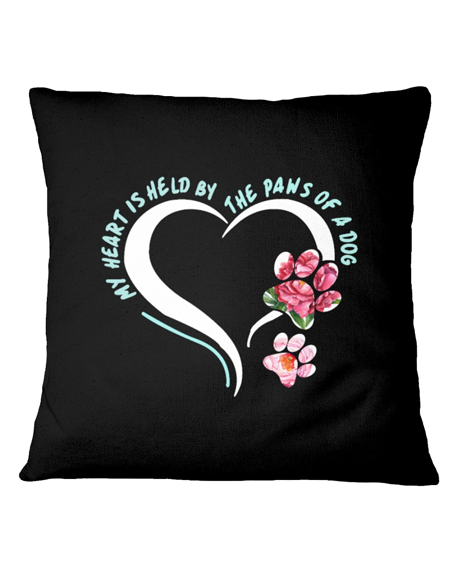 My Heart Is Held By The Paws Of A Dog Square Pillowcase