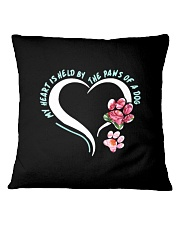 My Heart Is Held By The Paws Of A Dog Square Pillowcase front