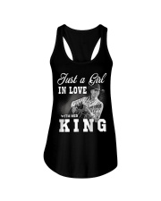 with my king tshirt Ladies Flowy Tank thumbnail