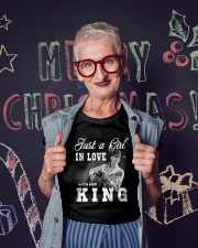 with my king tshirt Ladies T-Shirt lifestyle-holiday-crewneck-front-3