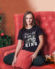 with my king tshirt Ladies T-Shirt lifestyle-holiday-womenscrewneck-front-2