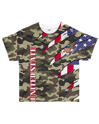 United State Flag Camouflage All Over T-Shirt
