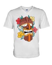 Monkey Samurai Mask V-Neck T-Shirt thumbnail