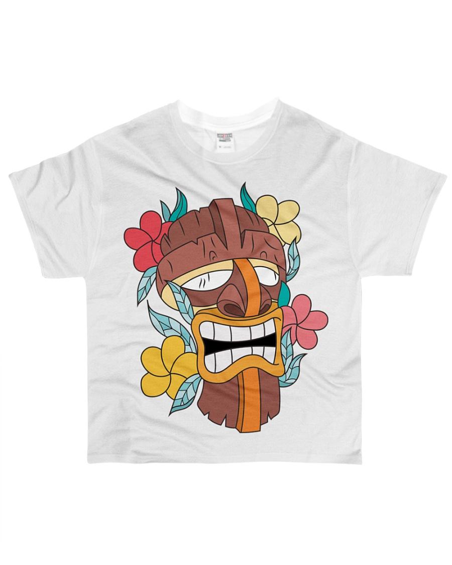 Monkey Samurai Mask All-over T-Shirt