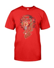 Steampunk scooter man Premium Fit Mens Tee front