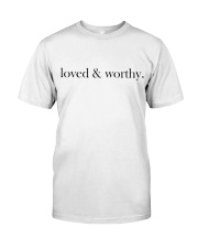 loved and worthy  Premium Fit Mens Tee thumbnail