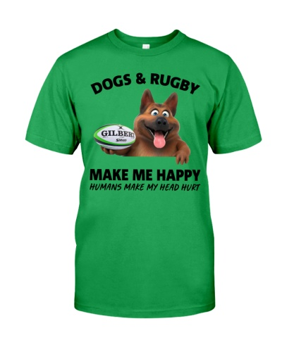 DOGS and RUGBY CLASSIC T-SHIRT