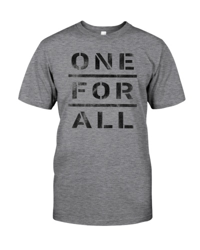 ONE FOR ALL T SHIRT Grey