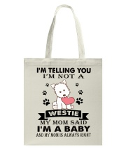 Limited Edition - WESTIE Tote Bag thumbnail