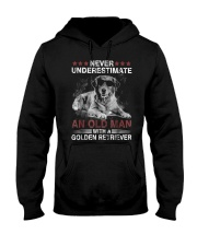 Never Underestimate An Old Man Golden Retriever Do Hooded Sweatshirt thumbnail