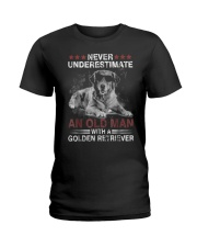 Never Underestimate An Old Man Golden Retriever Do Ladies T-Shirt thumbnail