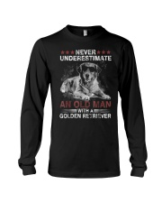 Never Underestimate An Old Man Golden Retriever Do Long Sleeve Tee thumbnail
