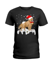 Funny Golden Retriever Merry Christmas T Shirt Ladies T-Shirt thumbnail