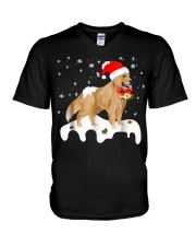 Funny Golden Retriever Merry Christmas T Shirt V-Neck T-Shirt thumbnail