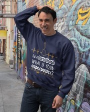 Metalhead Superpower Crewneck Sweatshirt lifestyle-unisex-sweatshirt-front-4