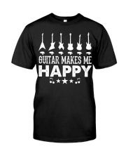 Guitar Makes Me Happy Classic T-Shirt thumbnail