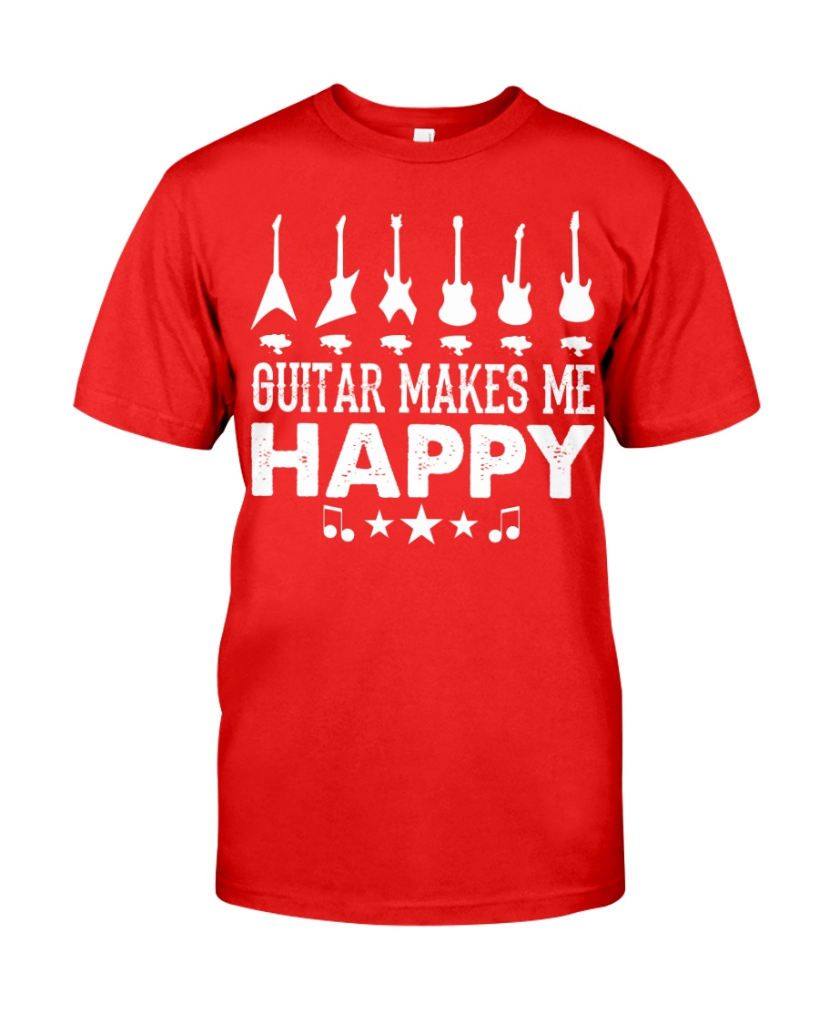 Guitar Makes Me Happy Classic T-Shirt