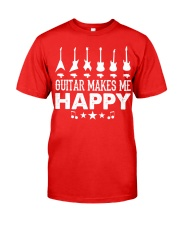 Guitar Makes Me Happy Classic T-Shirt front