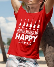 Guitar Makes Me Happy Classic T-Shirt lifestyle-mens-crewneck-front-9