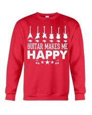Guitar Makes Me Happy Crewneck Sweatshirt front