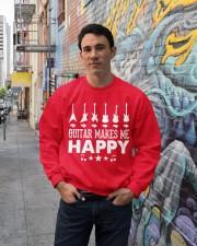 Guitar Makes Me Happy Crewneck Sweatshirt lifestyle-unisex-sweatshirt-front-2