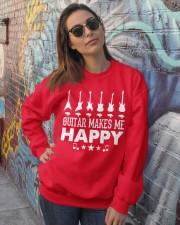 Guitar Makes Me Happy Crewneck Sweatshirt lifestyle-unisex-sweatshirt-front-3