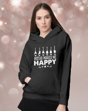 Guitar Makes Me Happy Hooded Sweatshirt lifestyle-holiday-hoodie-front-1
